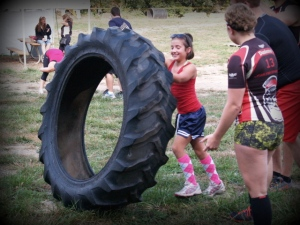 Grace vs the tractor tire...you see who won!
